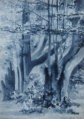 Klenová - Týnec (2016), akvarel